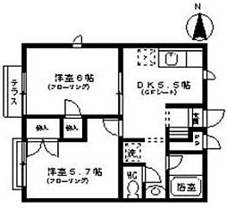 サニーハイツ嵐山[4階]の間取り
