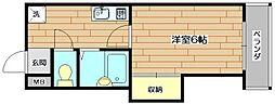 中村10番館[3階]の間取り