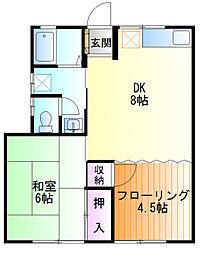 ロンドハウス[1f号室]の間取り