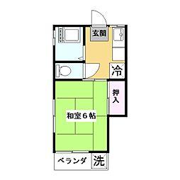 東京都板橋区徳丸3丁目の賃貸アパートの間取り