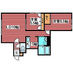 カーメルハウス栄通[2階]の間取り