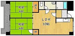 レジデンス鋲賀[4階]の間取り