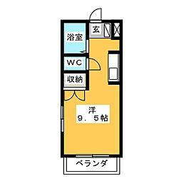 第2ホーメスト桜木[1階]の間取り