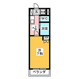 ボナール塩釜[2階]の間取り