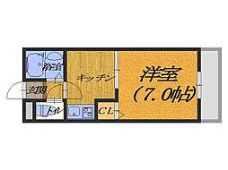 大阪府堺市堺区向陵東町1丁の賃貸マンションの間取り