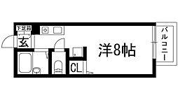 兵庫県西宮市上ケ原一番町の賃貸アパートの間取り