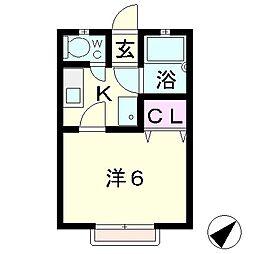 ハイツ吉田 A棟[2階]の間取り