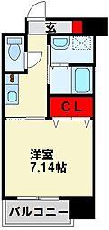 (仮称)折尾4丁目賃貸マンション 2階1Kの間取り