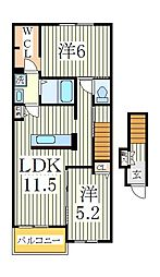 ブライトヒル[2階]の間取り