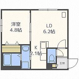 リリ円山北4[203号室]の間取り