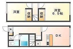 大阪府八尾市恩智北町2の賃貸アパートの間取り