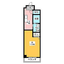 ソレアード小坂[1階]の間取り