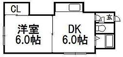 北海道札幌市西区琴似四条4の賃貸アパートの間取り