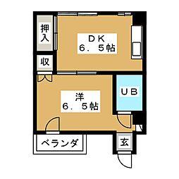 廣伸マンション[2階]の間取り