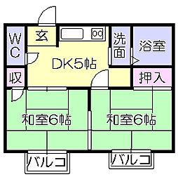柴田ハイツ[204号室]の間取り