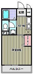 カーサ寺池[2階]の間取り