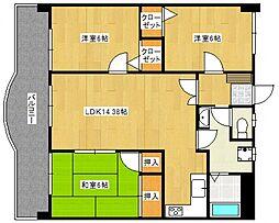 ライオンズマンションMAXIM櫛原[2階]の間取り