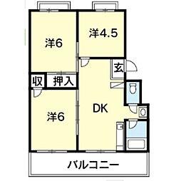 井内マンションA棟[301号室]の間取り
