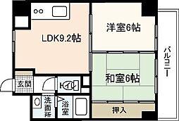フレア21三滝[4階]の間取り