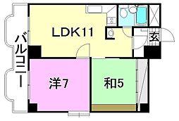 レジデンス勝山[305 号室号室]の間取り