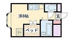 シティコートII[1階]の間取り