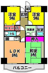 プレスト・コート弐番館[2階]の間取り