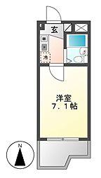 ドール堀田I[5階]の間取り