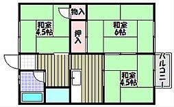 スカイハイツ置田[1階]の間取り