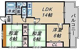 TAMATEマンション[6階]の間取り