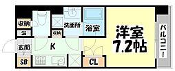 JR仙石線 榴ヶ岡駅 徒歩3分の賃貸マンション 8階1Kの間取り