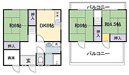 兵庫県加古川市加古川町西河原の賃貸アパートの間取り
