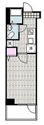 JR京浜東北・根岸線 山手駅 徒歩9分の賃貸マンション 7階1Kの間取り