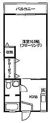 パールマンション[203号室]の間取り