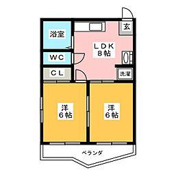 コーポハンター[2階]の間取り