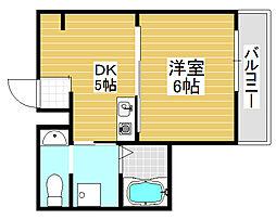 シティコーポノア1[2階]の間取り