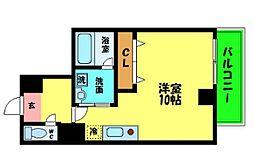大阪府大阪市中央区釣鐘町2丁目の賃貸マンションの間取り