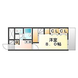 JR山陽本線 備後赤坂駅 徒歩33分の賃貸アパート 1階1Kの間取り