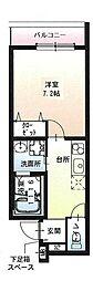 フジパレス尼崎ガーデンII番館 3階1Kの間取り