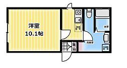 FABRIC飯田橋 1階1Kの間取り