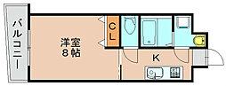 ロイヤル博多駅前[4階]の間取り