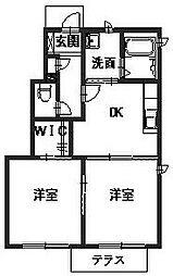 ミルキーウェイII[1階]の間取り