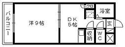 プレジデントヴィラ[B502号室]の間取り