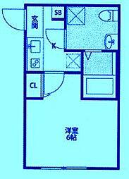CASAR武蔵新城[1階]の間取り