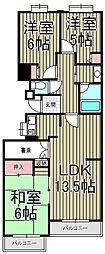 クリオ鎌倉笛田[5階]の間取り