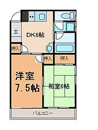 相生コーポフロンティア[2階]の間取り
