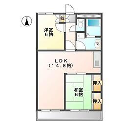 グランデュール今2号館[4階]の間取り