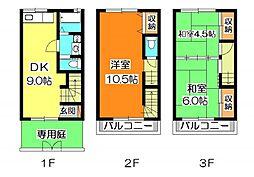 [テラスハウス] 埼玉県新座市新堀1丁目 の賃貸【/】の間取り