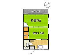 第一栄荘[2階]の間取り