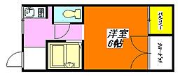 シャトレ小阪 202号室[2階]の間取り