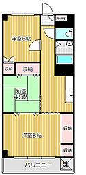 エバラグランドマンション[10階]の間取り
